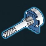 Potentiometer - 100KLin Long Shaft (Splined)