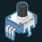 Potentiometer - 10KLin 15mm Hor