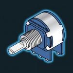 Potentiometer - 20KLog Dual Short Shaft (D Shaped)