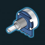Potentiometer - 20KLin Short Shaft (D Shaped)